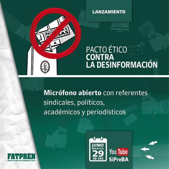 Argentina: se lanzó el Pacto Ético contra la Desinformación