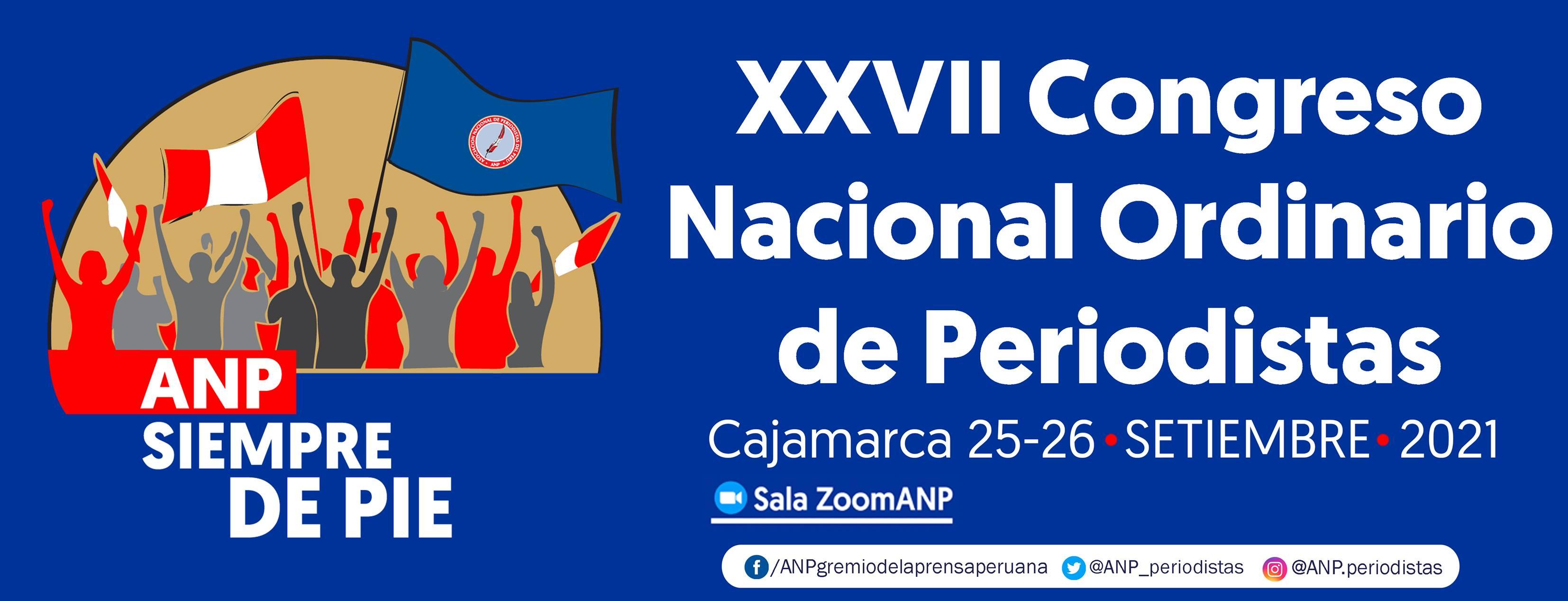Perú: Comienza el XXVII Congreso Nacional Ordinario de Periodistas